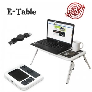 E-Table (Table With Laptop Cooling Pad)