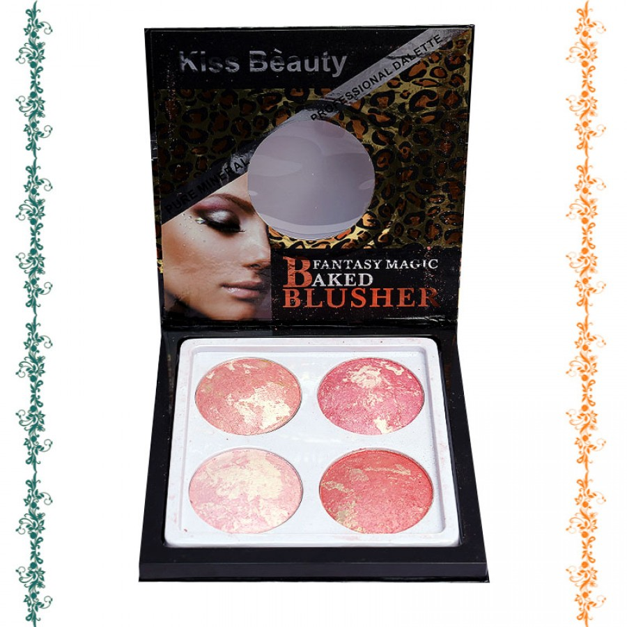Kiss Beauty Pack Of 4 Fantasy Magic Baked Blusher