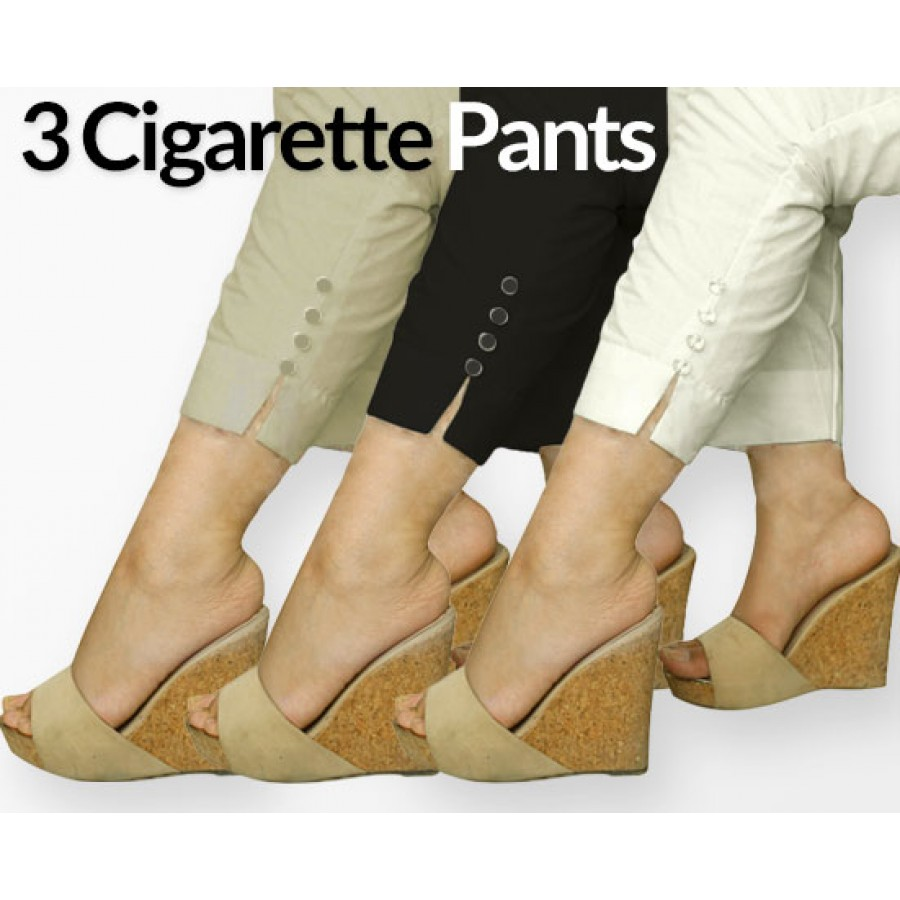 Pack of 3 Cigarette Pants