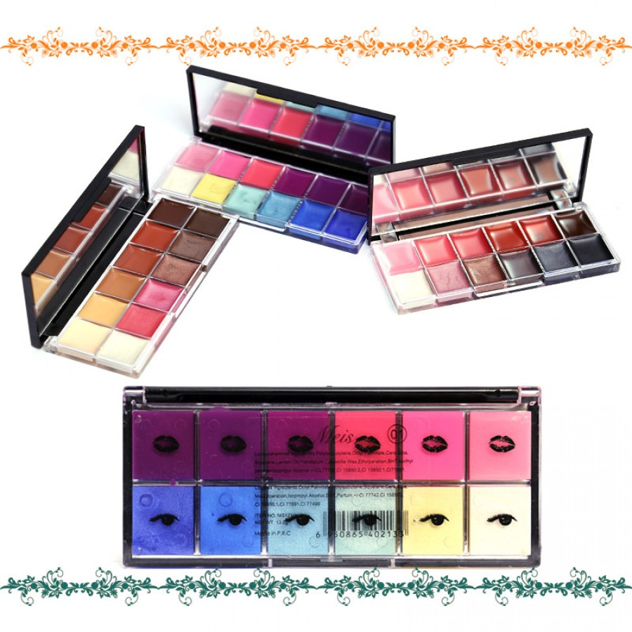 Meis Pack Of 3 Eye & Lip Shades Kits
