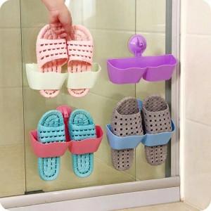 Bathroom Shoe Rack with Slippers
