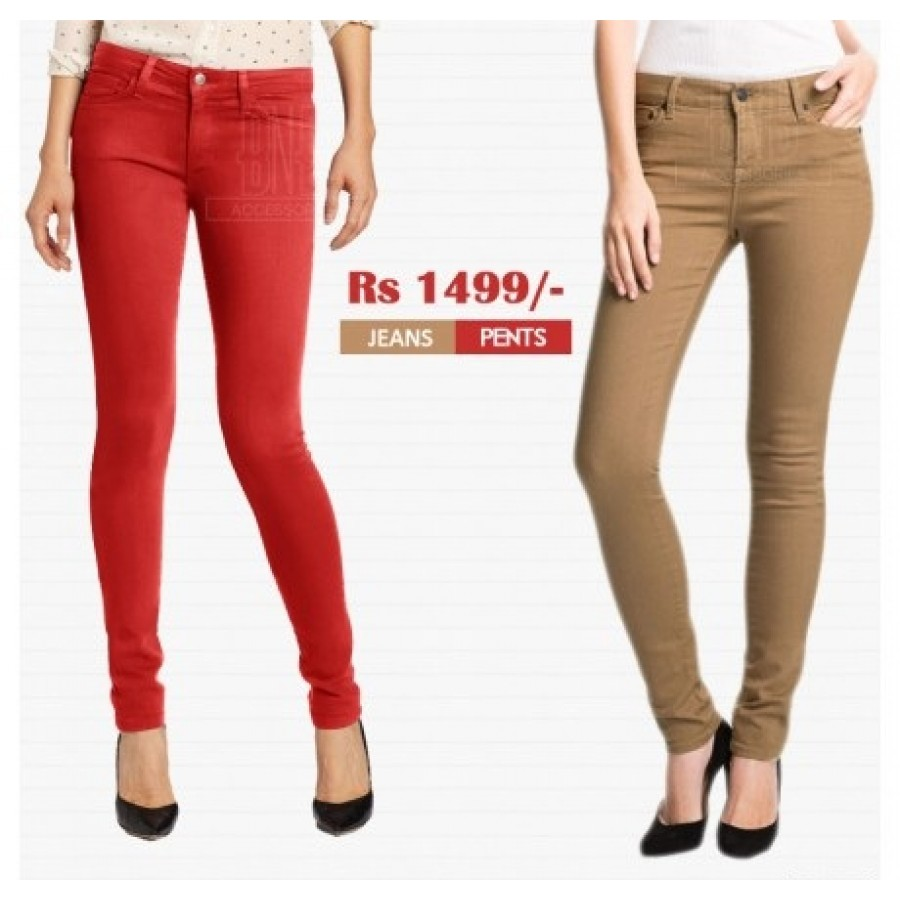 Pack of 2 Ladies Jeans