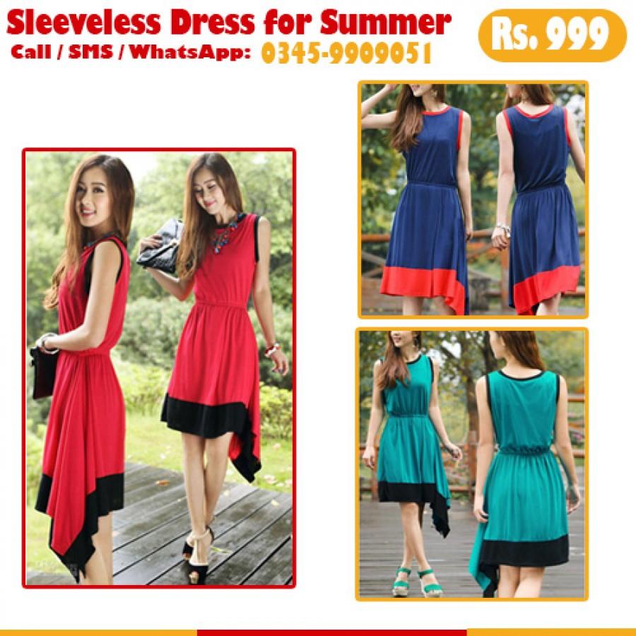 Sleevesless Summer Dress for Women