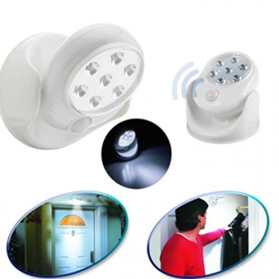 360 Degree Rotation Wireless Indoor Motion Sensor 7 LED Security Safety Light