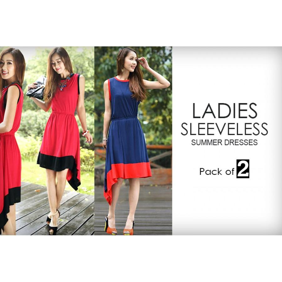 Pack Of 2 Sleeveless Summer Dresses