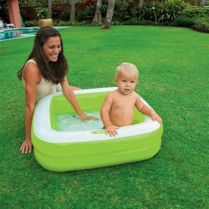 Intex Square Baby Pool with Air Filling Machine