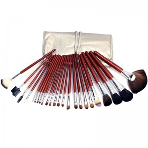 24 Pieces Naked 6 Brush Set With Leather Pouch
