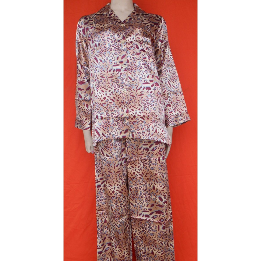 Valerie Ivory Solid Polyester Printed Pajama Set For Women
