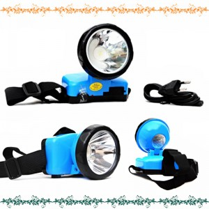 DP LED Rechargeable 1 Watt High-Power Head-Mounted Light With Charger