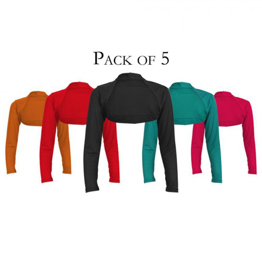 WOMEN'S PACK OF 5 MINI SHRUGS STRETCHABLE