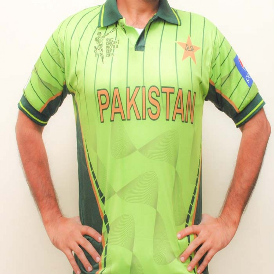 Official CA Sports Branded Shirt of Pakistan World Cup kit