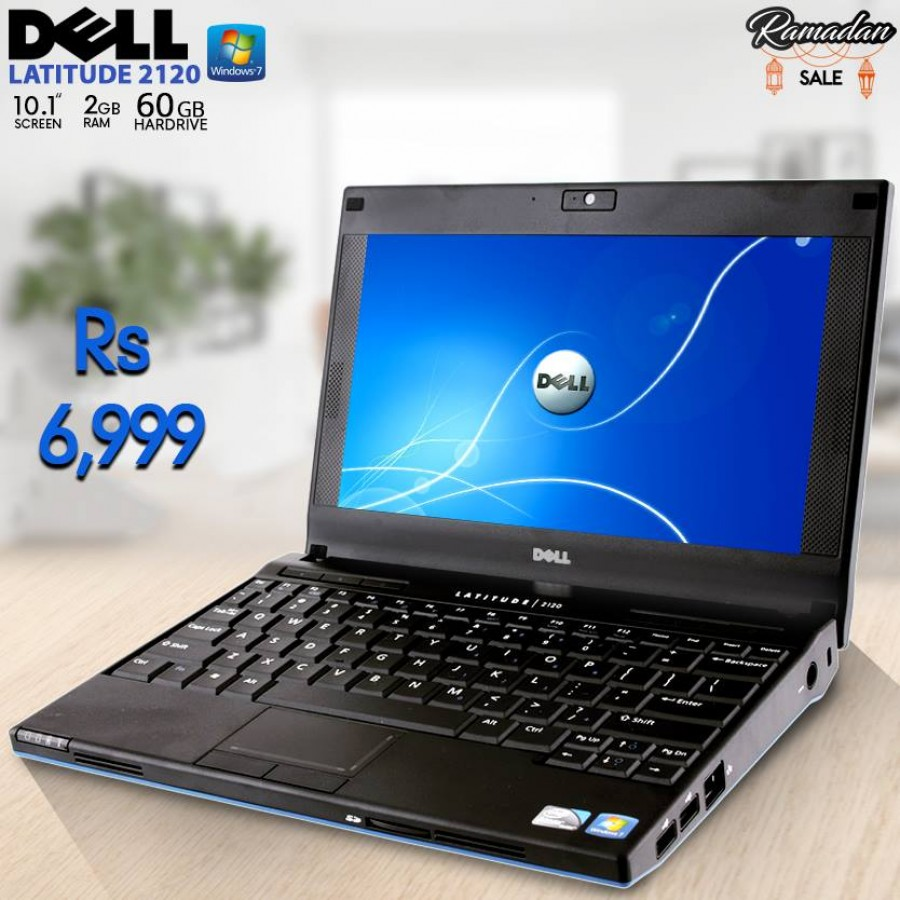 "Dell Latitude 2120 Mini Laptop, 2GB RAM, 60GB HDD, 10.1"" Screen, Windows 7"