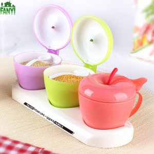 Grids Cute Apple-shaped Spice Jar