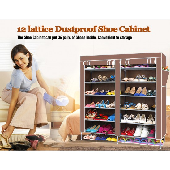 Multiple Layer Shoe Rack Wardrobe ( For 36 Pairs)