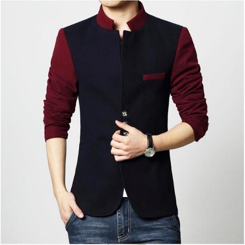 Men's Clothing : Mens Stylish Button Coat Style Fleece Jacket