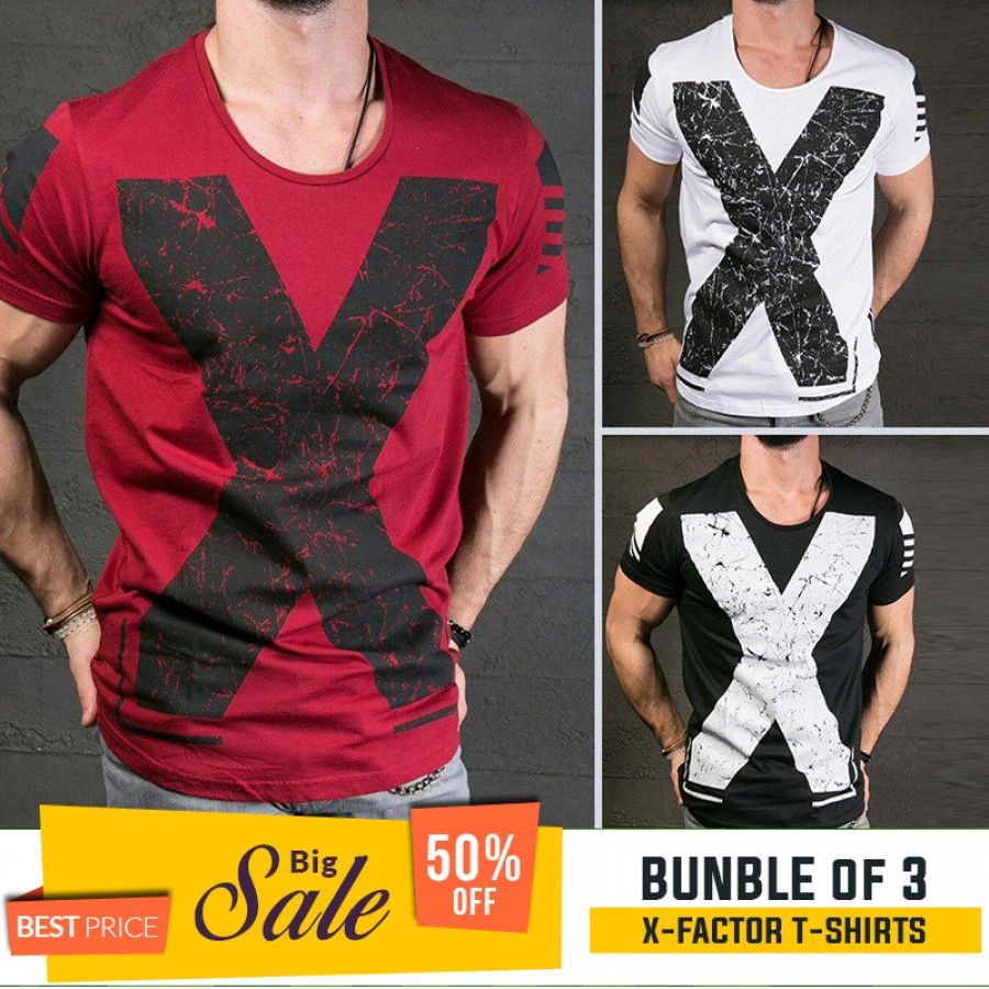 Bundle of 3  X Factor T-Shirts - BUMPER DISCOUNT SALE