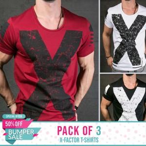 Bundle of 3  X Factor T-Shirts - BUMPER DISCOUNT SALE