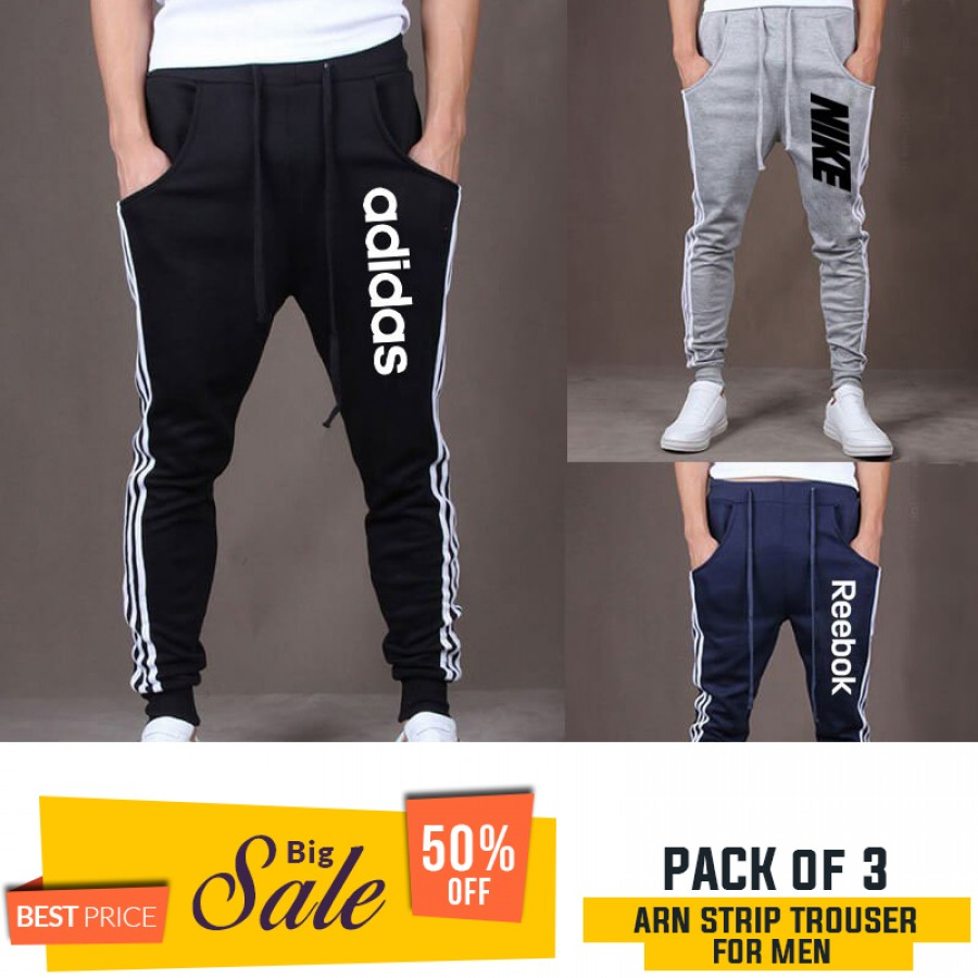 Pack of 3 ARN Strip Trousers For Men - BUMPER DISCOUNT SALE
