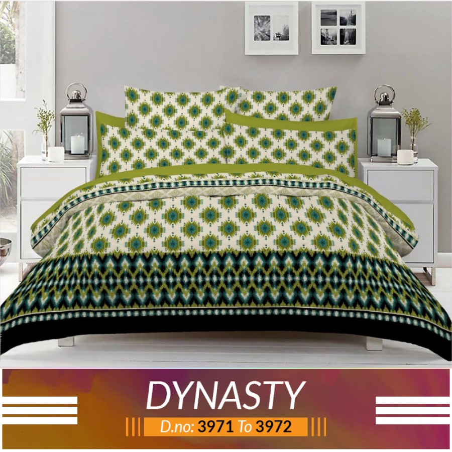 3 piece King Size Bed sheet  ( D.no:3971 to 3972)