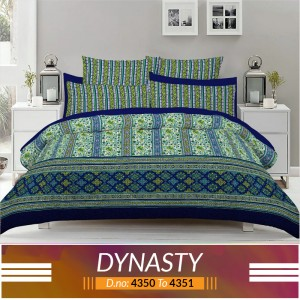 3 piece King Size Bed sheet  ( D.no:4350 to 4351)