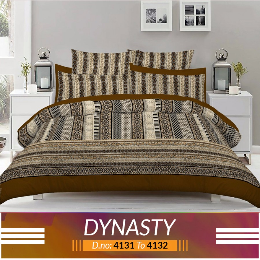 3 piece King Size Bed sheet  ( D.no:4131 to 4132)