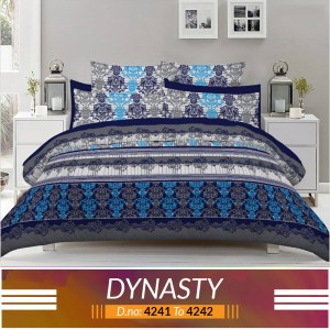 3 piece King Size Bed sheet  ( D.no:4241 to 4242)