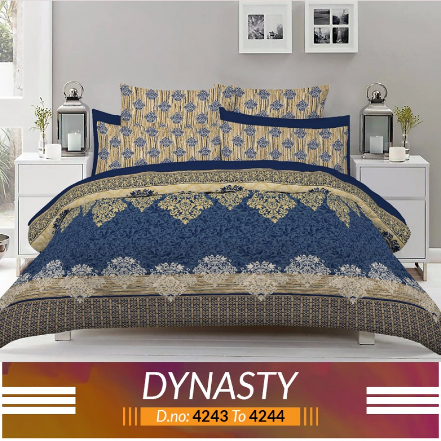 3 piece King Size Bed sheet  ( D.no:4243 to 4244)
