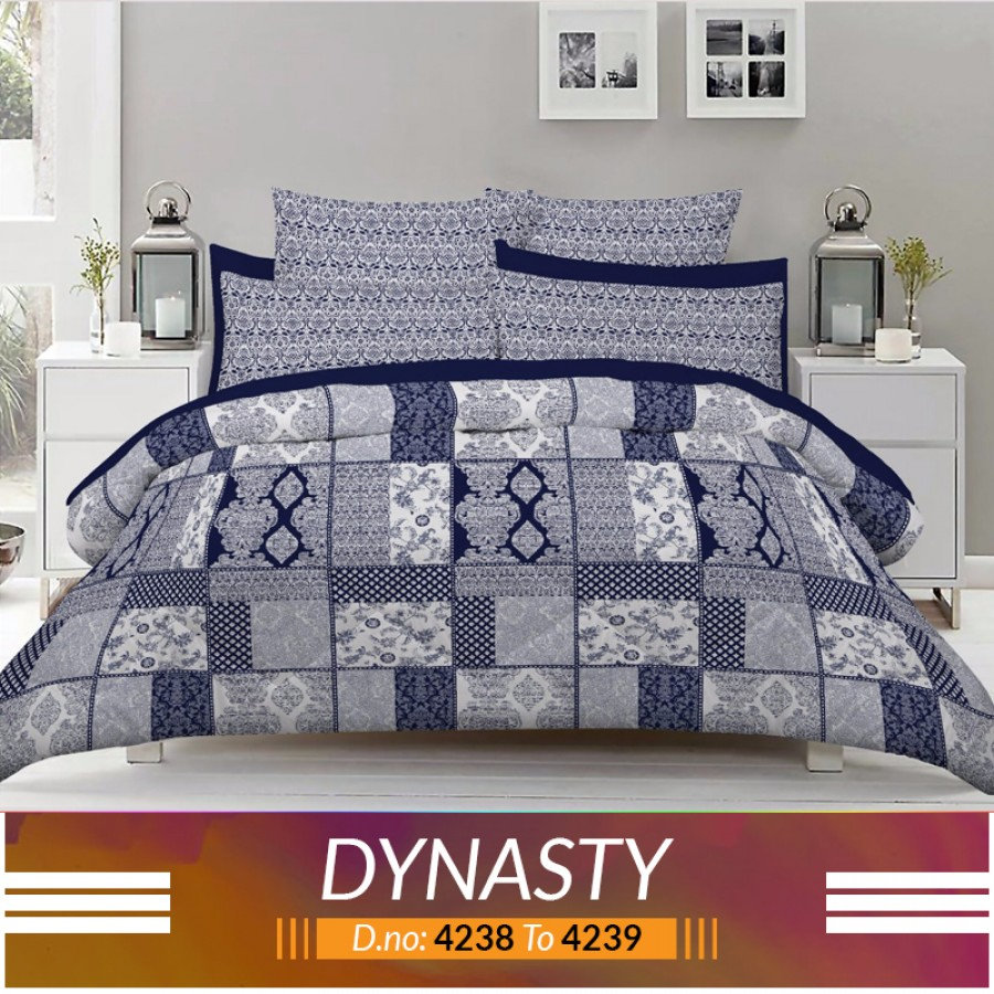 3 piece King Size Bed sheet  ( D.no:4238 to 4239)