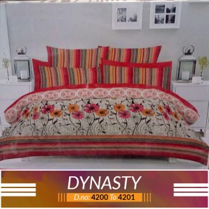 3 piece King Size Bed sheet  ( D.no:4200 to 4201)