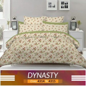 3 piece King Size Bed sheet  ( D.no:4314 to 4315)
