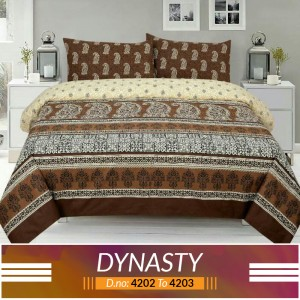 3 piece King Size Bed sheet  ( D.no:4202 to 4203)