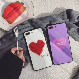 PK010 Heart Print Forever and Lovely written case  Elegant luxurious case with heart shape print