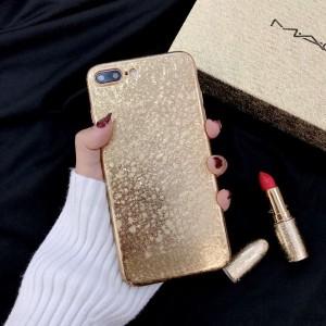 ( PK008 ) Glittery Golden tpu case Shiny glittering soft case in golden glimmer color