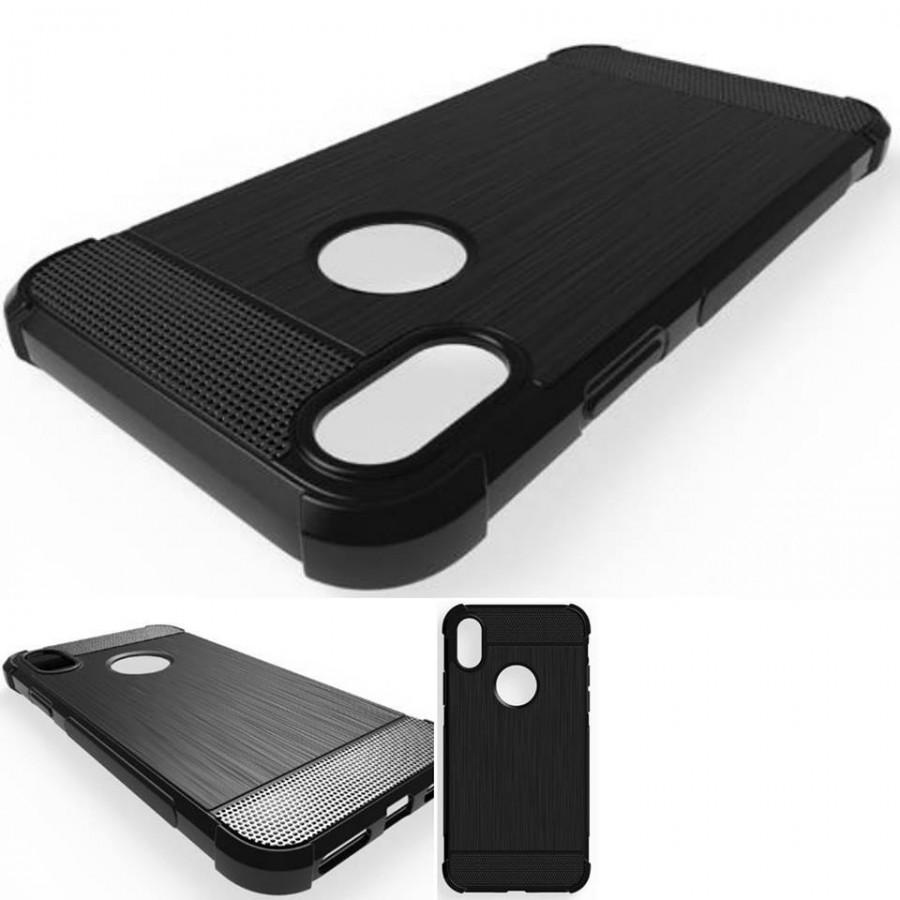 PK005 Black Antishock case  Antishock case in black color with curved edges and fiber silicon