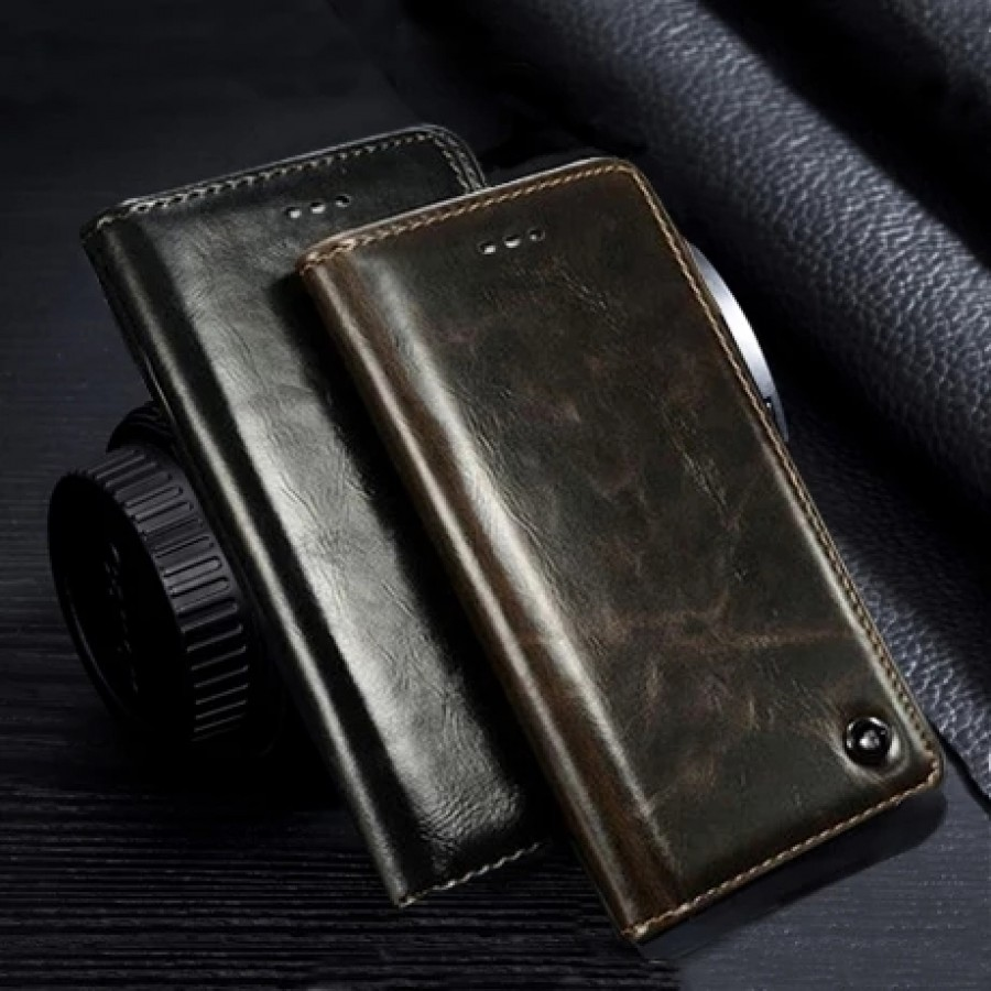 PK002 Leather wallet case  Leather wallet case with stand and card slots ( DESIGN-2 )