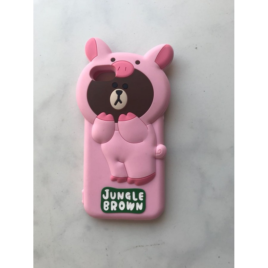 PK017 Bear Case dual 3d  3d silicon case bear cute case