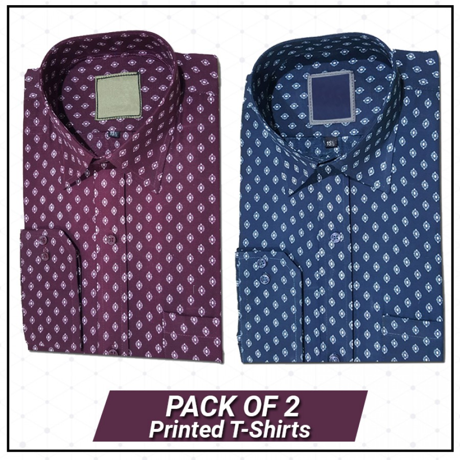 Pack Of 2 Printed Shirts