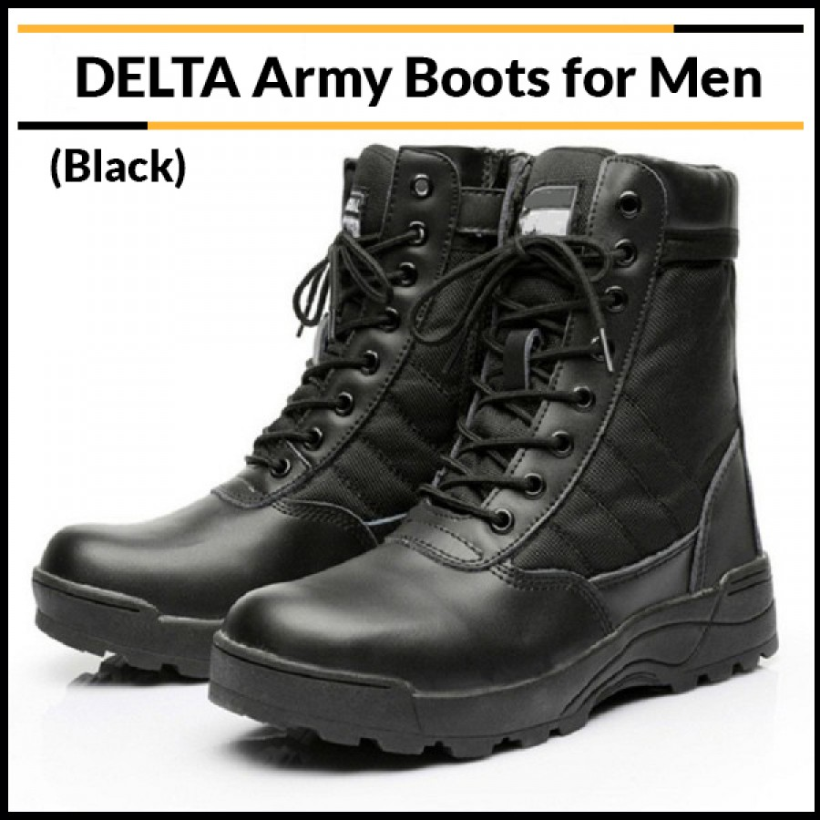 DELTA Army Boots for Men (Black)