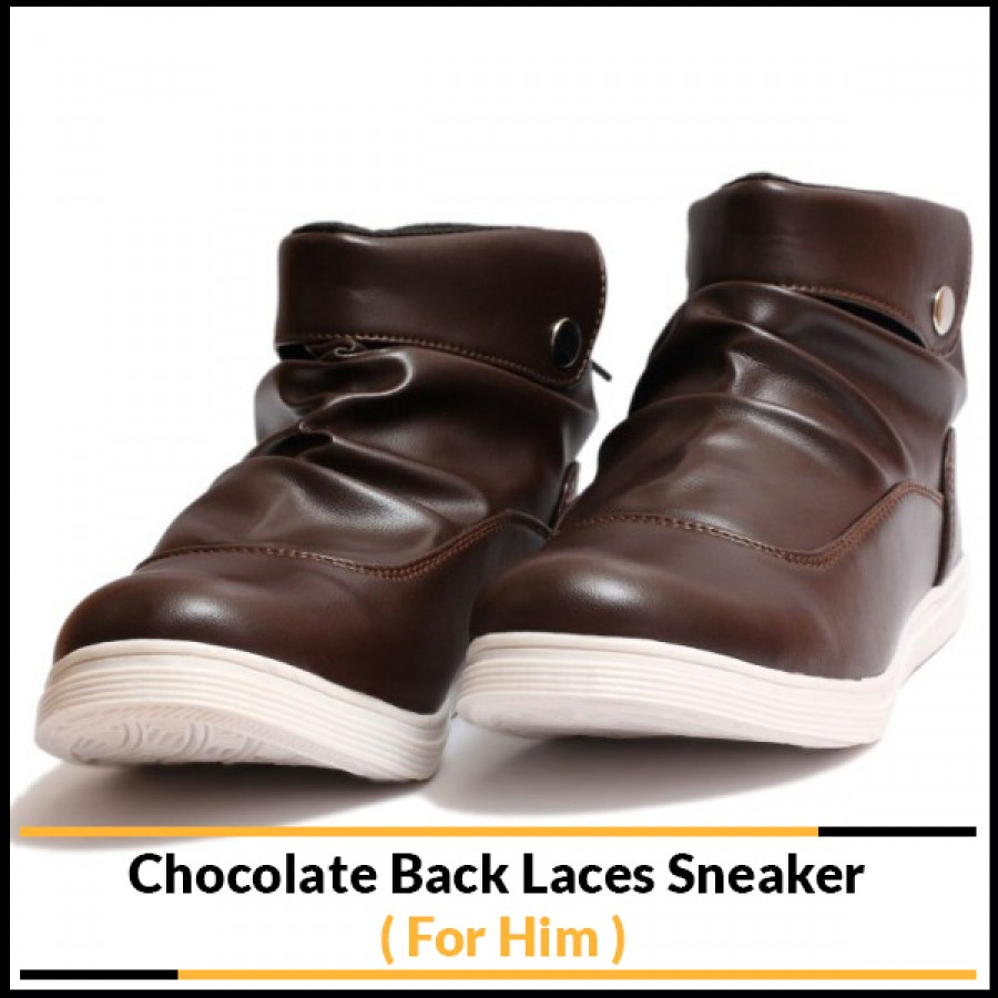 Chocolate Back Laces Sneaker (For Him)