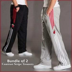 BUNDLE OF 2 ( Contrast Stripe  Trousers )