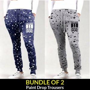 BUNDLE OF 2 ( Paint drop  Trousers )