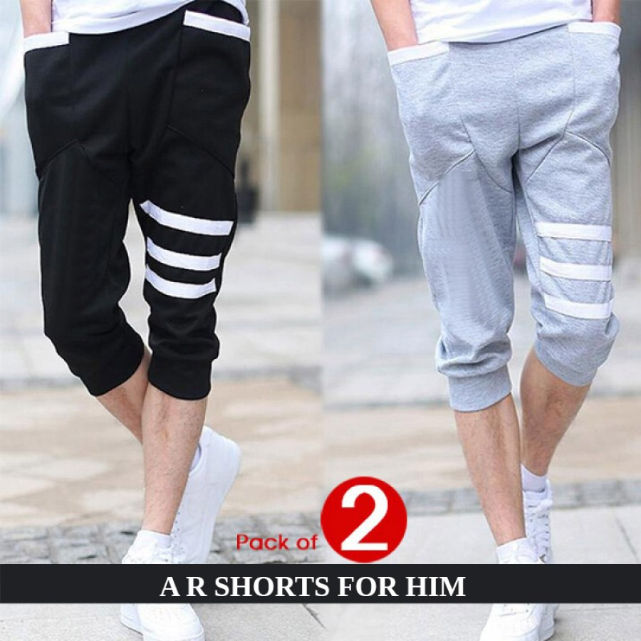 Pack of 2 (A R Shorts for him -design 2 )