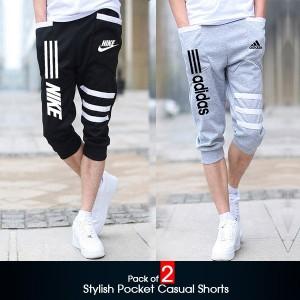Pack of 2 (Stylish Pocket Casual Shorts )