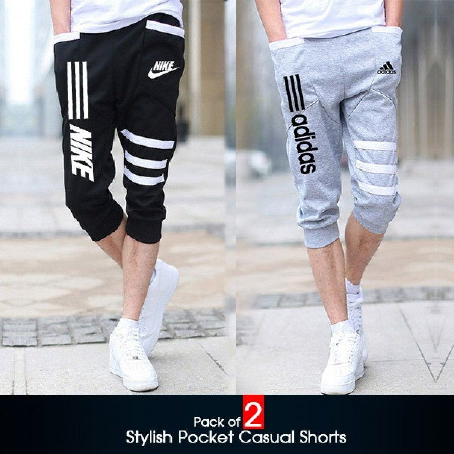 Pack of 2 (Stylish Pocket Casual Shorts )