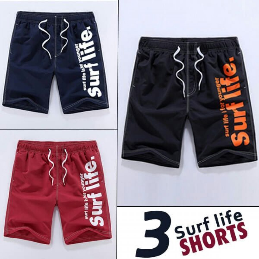 Pack of 3 Surf Life Shorts
