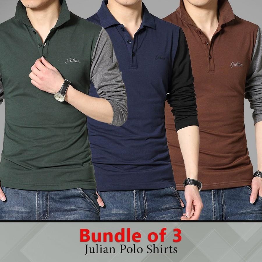 Bundle Of 3 Julian Polo Shirts