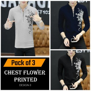 Chest Flower Printed ( Design 3 )