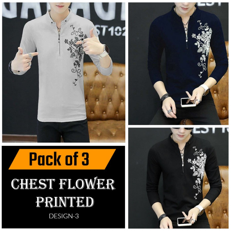 Chest Flower Printed ( Design 3 )