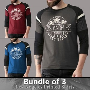 Bundle Of 3 ( Los Angeles Printed Shirts )