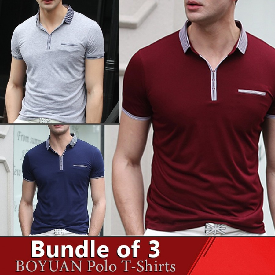 Bundle Of 3 ( Boyuan Polo T-Shirts )
